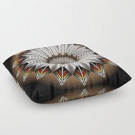 Feather Design Floor Pillow