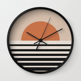 Vintage Sunset Gradient - Bold Neutral Wall Clock