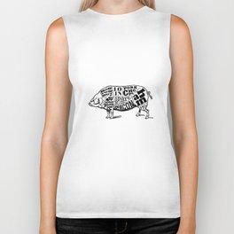 Pig Cuts Biker Tank
