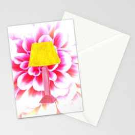 lamp shade flower illustration Stationery Cards