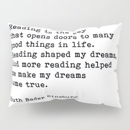 RGB, Reading Is the Key That Opens Doors, Motivational, Quote Pillow Sham