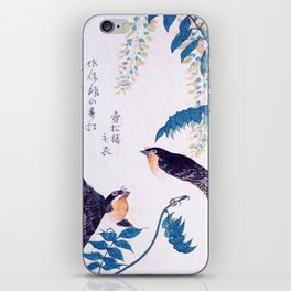 Swallows and Wisteria B iPhone Skin