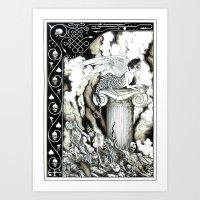 sphynx Art Prints featuring Sphynx by Elias Aquino