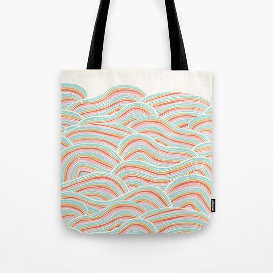 Summer Sea Waves Tote Bag