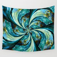 novelty Wall Tapestries featuring Water Wheel by Moody Muse