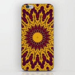 Mandala Fractal in Indian Summer 02 iPhone Skin