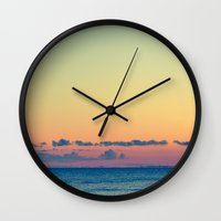 grafitti Wall Clocks featuring Soothe The Burn  by Faded  Photos