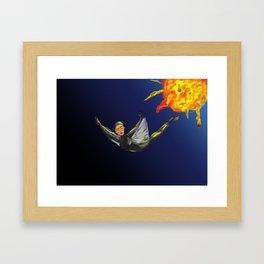 Capt Danyerova. Mission accomplished Framed Art Print