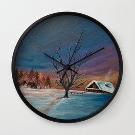 Winter Dawn Wall Clock