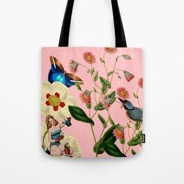 Big Flowers dream pink Tote Bag