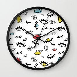 Eyeball Pattern Wall Clock