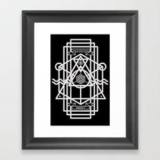 FALX MYSTICUS Black Framed Art Print