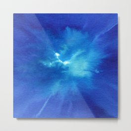 Blue Powder Metal Print
