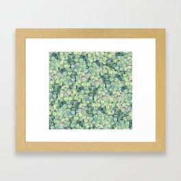 Green Grape Pattern Framed Art Print