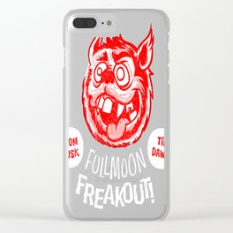 Full Moon Freakout Clear iPhone Case