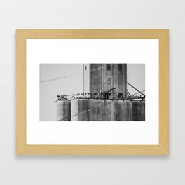 Flock of blackbirds Framed Art Print