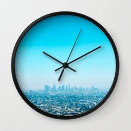 Blue LA Wall Clock
