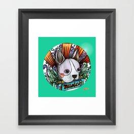 dog & music Framed Art Print