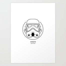 Stormtrooper from Galactic Empire. Art Print