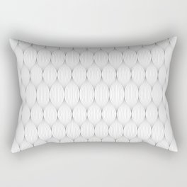 Silver Grey On White Optical Waves Repeat Pattern Rectangular Pillow