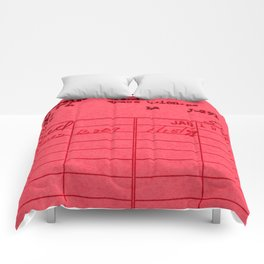 Library Card 797 Red Comforters