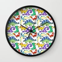 dinosaurs Wall Clocks featuring Dinosaurs!!!! by Morgan