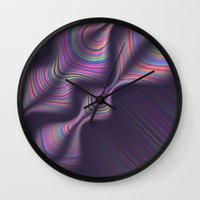 novelty Wall Clocks featuring Novelty Waves 2 by Mario De Meyer