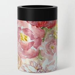 Bouquet of Spring Flowers Light Aqua Can Cooler