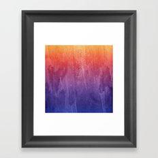 Purple, Pink, Orange Watercolor Gradient Framed Art Print