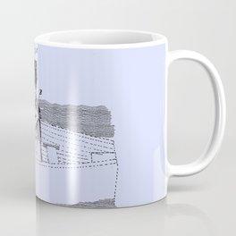 1887 Oarsman's Harness Blue Patent Blueprint Boat Coffee Mug