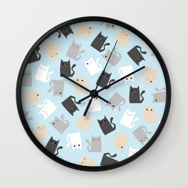 Scattercats Wall Clock