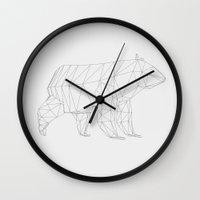 swedish Wall Clocks featuring Swedish Bear by Christopher Liljebäck