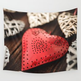 st valentine hearth shape background Wall Tapestry