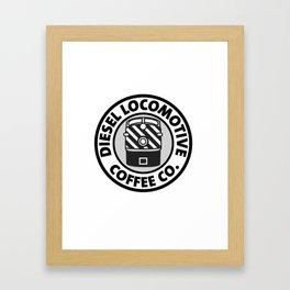 Diesel Locomotive Coffee Co. Framed Art Print