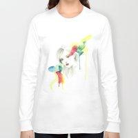 gemma Long Sleeve T-shirts featuring Gemma Ward by Simona Borstnar
