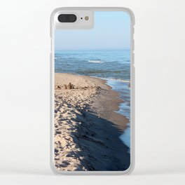 Sand Castle by the Lake Clear iPhone Case