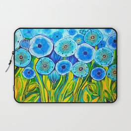 Field of Blue Poppies #1 Laptop Sleeve