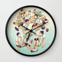 haikyuu Wall Clocks featuring Aobajousai by viria