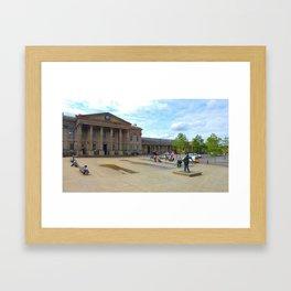 huddersfield train station Framed Art Print