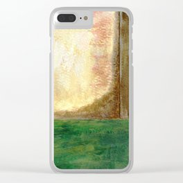 Awakening, Abstract Landscape Clear iPhone Case