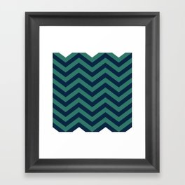 3D in Ocean Tones Framed Art Print