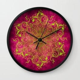 Pink lemon Wall Clock