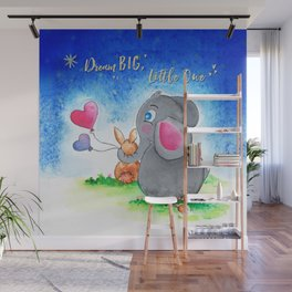 Ellie and Bunny - Dream Big Wall Mural