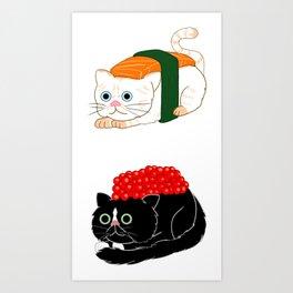 sushi cats Art Print