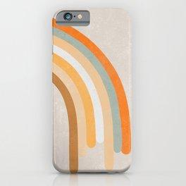 Retro Rainbow 70s colors #art print#society6 iPhone Case