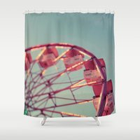 number Shower Curtains featuring Number 15 by Alicia Bock