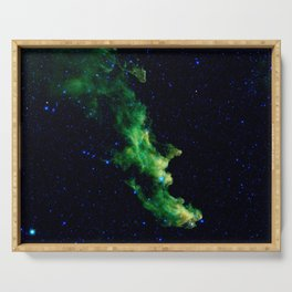 Galaxy: Green Witch's Head Nebula Serving Tray