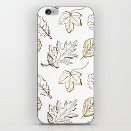 Leaves (browns) iPhone Skin