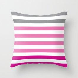 Stripes Gradient - Pink Throw Pillow