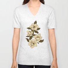 Magnolias Unisex V-Neck